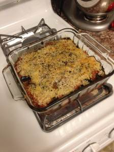 Mark Bittman's Eggplant UnParmesan made by yours truly.