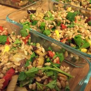 Roasted Vegetable + Farro Salad