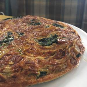 Spinach, Potato, and Onion Frittata