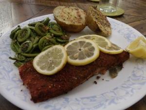 Grilled Salmon on a cedar plank