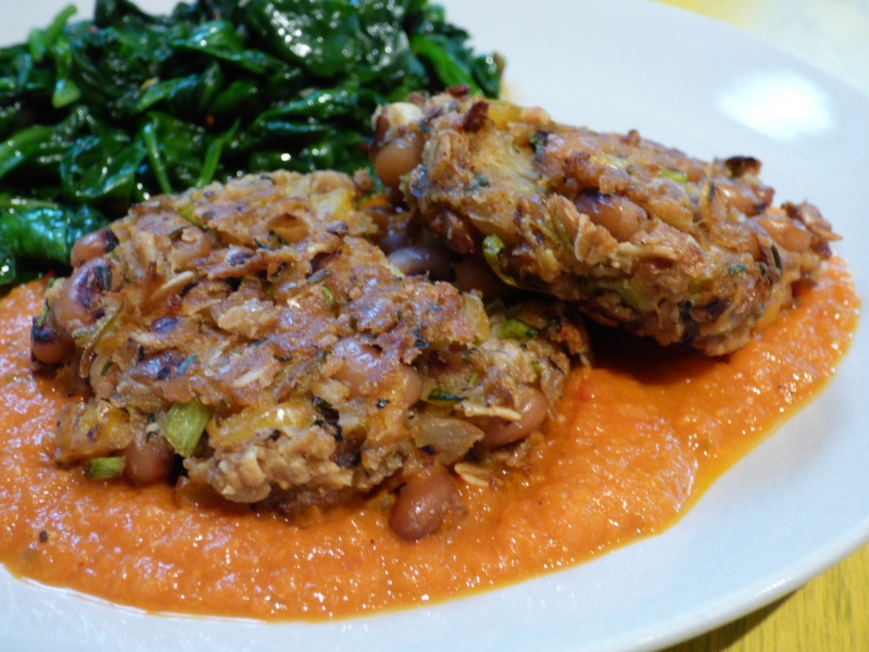 Black-Eyed Pea Fritters with Spicy Tomato Sauce | i
