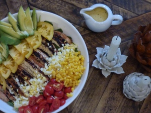Grilled Chicken Summer Salad with Sweet Onion Dressing